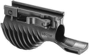 "Potato Shaped Polymer Foregrip with 1 1/8"" Flashlight Holder"