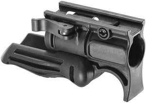 "Folding Polymer Foregrip with 1"" Flashlight Mount"