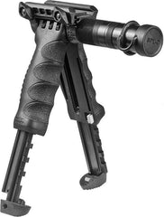 T-POD SL G2 Tactical Polymer Foregrip Bipod with Tactical Flashlight
