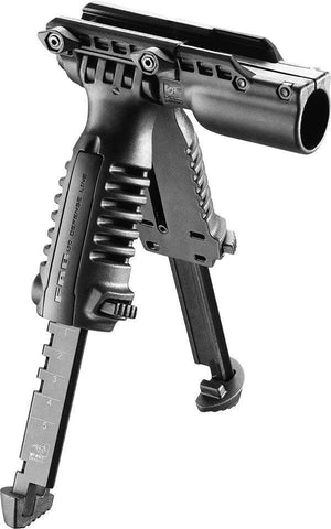 "T-POD FA G1 Tactical Polymer Foregrip Bipod with 1"" Light Holder"