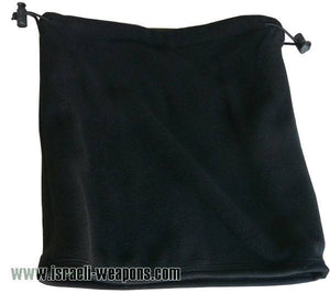 IDF Fleece One-Side Neck Warmer Collar Cold Weather Winter Gear Clothes - Black