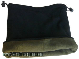 IDF Fleece Double-Sided Neck Warmer Collar Cold Weather Winter Gear - Green/Black