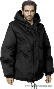 IDF Dubon Hooded Parka Jacket Coat Waterproof Cold Weather Winter Gear - Black