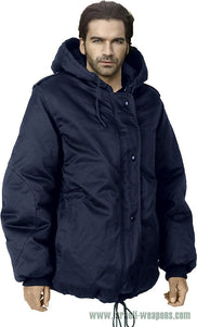 IDF Dubon Hooded Parka Jacket Coat Waterproof Cold Weather Winter Gear - Blue