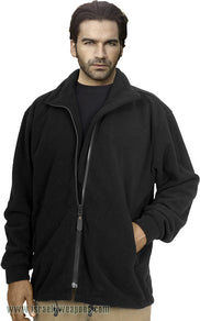 IDF Fleece One-Side Military Jacket Coat Cold Weather Winter Gear Clothes - Black