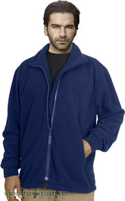 IDF Fleece One-Side Military Jacket Coat Cold Weather Winter Gear Clothes - Blue