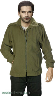 IDF Fleece One-Side Military Jacket Coat Cold Weather Winter Gear Clothes - Green