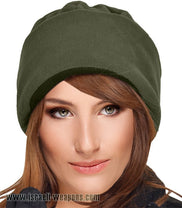 IDF Fleece Watch Cap Hat Israeli Army Cold Weather Winter Gear Clothes - Green