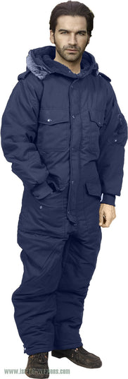 Full Body Coverall IDF Hermonit Waterproof Rain Snowsuit Cold Weather Winter Gear - Blue