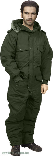 Full Body Coverall IDF Hermonit Waterproof Rain Snowsuit Cold Weather Winter Gear - Green