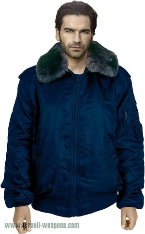 IDF Officer's Jacket Coat Army Waterproof Cold Weather Winter Gear Clothes - Blue