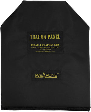 "IWEAPONS® Anti-Trauma Shooters Cut Panel for Bulletproof Vest - 10x12"" / 25x30cm (Shooters Cut)"