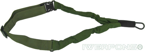 IWEAPONS® IDF 1-Point Bungee Rifle Sling Quick Release Green Gun Sling