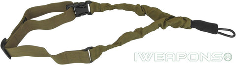 IWEAPONS® IDF 1-Point Bungee Rifle Sling Quick Release Tan Gun Sling