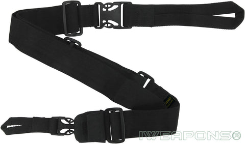IWEAPONS® IDF 3-Point Black Rifle Sling Quick Release Gun Sling