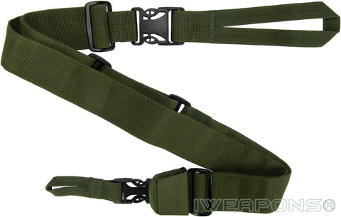 IWEAPONS® IDF 3-Point Green Rifle Sling Quick Release Gun Sling