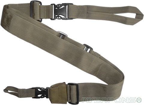 IWEAPONS® IDF 3-Point Tan Rifle Sling Quick Release Gun Sling