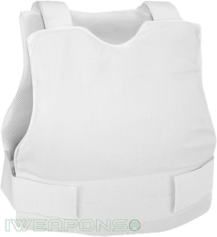IWEAPONS® Civilian Concealed Covert White Bulletproof Vest IIIA/3A