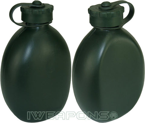 IWEAPONS® IDF Green Water Bottle Canteen 1 Liter Tactical Flask