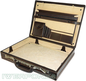 IWEAPONS® Ballistic Leather Bulletproof Briefcase IIIA / 3A