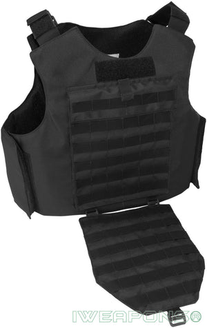 IWEAPONS® MOLLE Bulletproof Vest IIIA / 3A with 25×30cm 10x12inch Pockets for Armor Plates and Groin Protection