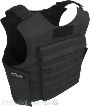 IWEAPONS® MOLLE External Bulletproof Vest IIIA / 3A with 25×30cm Pockets for Armor Plates