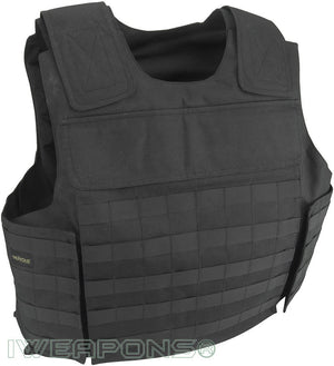 IWEAPONS® MOLLE External Bulletproof Vest IIIA / 3A with Custom XL Pockets for Armor Plates