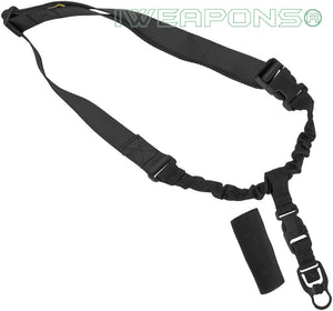IWEAPONS® Operator Tactical QD 1-Point Bungee Black Rifle Gun Sling