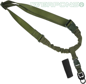 IWEAPONS® Operator Tactical QD 1-Point Bungee Green Rifle Gun Sling