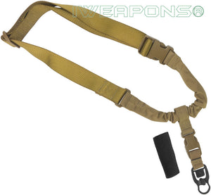IWEAPONS® Operator Tactical QD 1-Point Bungee Tan Rifle Gun Sling
