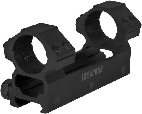 IWEAPONS® Picatinny Double Ring 1inch / 25mm Scope Mount