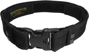"Tactical Heavy Duty Web Belt 1.5""/5cm Police Swat Security Webbing/Webbed"