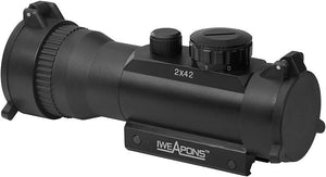 IWEAPONS® Red Dot Sight 2x42mm Sight – 7 Level