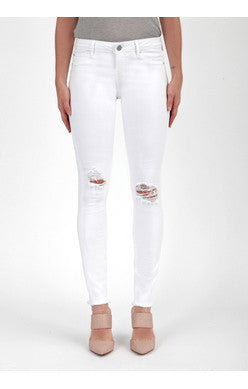 Articles of Society Sarah Skinny White hall distressed denim