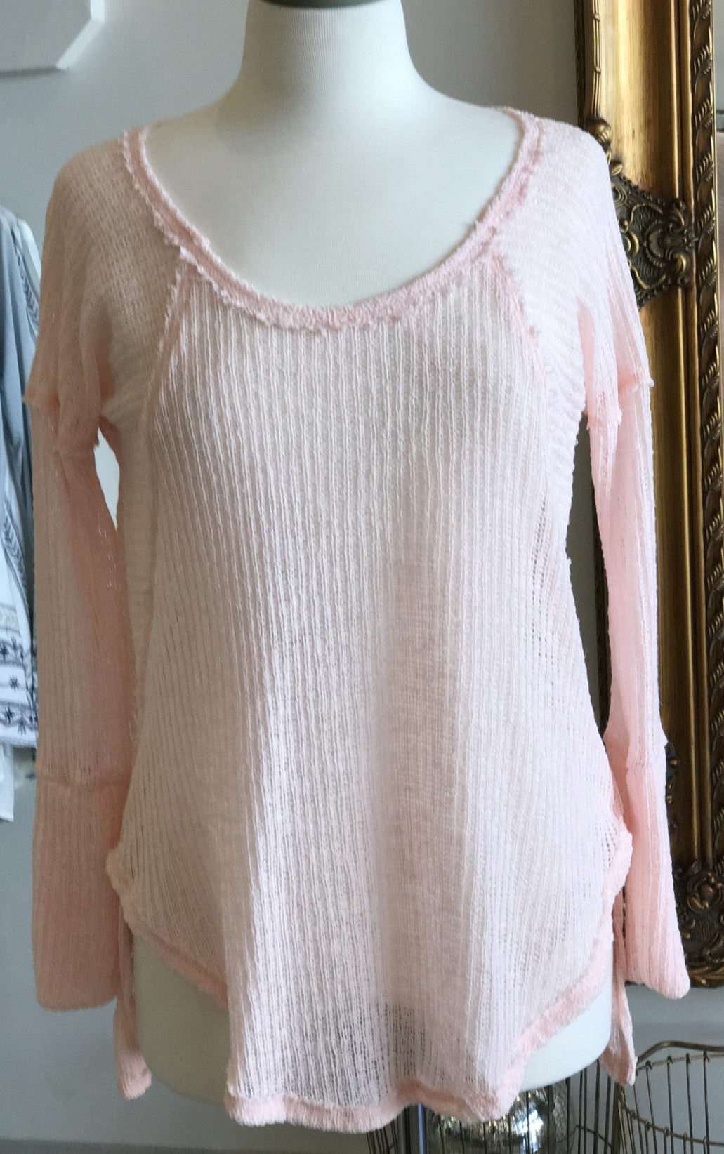 Karlie knit light weight scoop  tunic