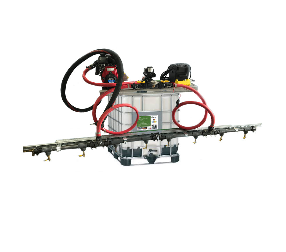 Portable Sprayer w/EnviroKleen 2200 (a synthetic based w/binder for long-lasting dust control)