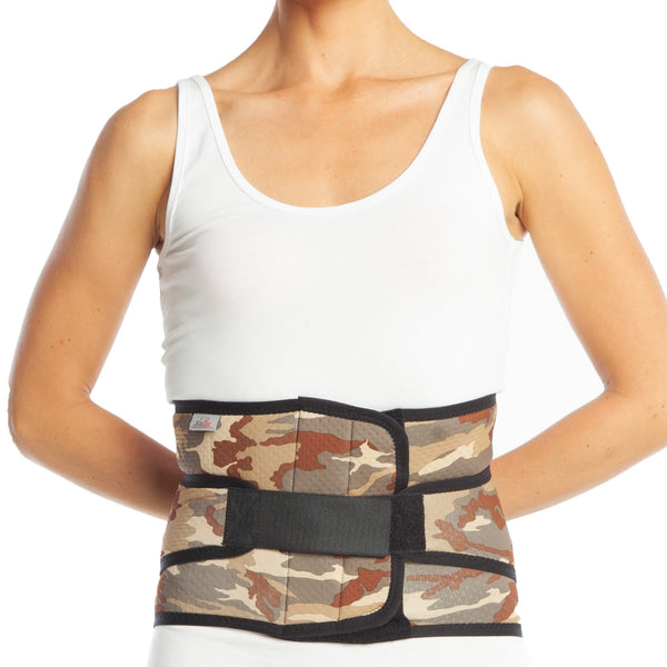 Medical Back Brace - Lumbosacral Corset Neoprene Camouflage with Additional Belts