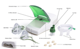 Description and names of Portable Nebuliser Machine assembly parts