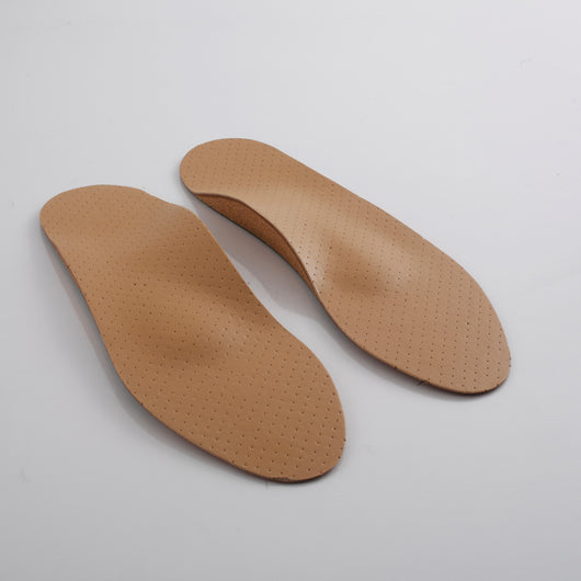 Orthotic Leather Insoles - Cork & Steel
