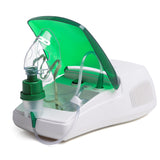 Picture of Portable Nebuliser Machine for Home Care while all parts are assembled on machine