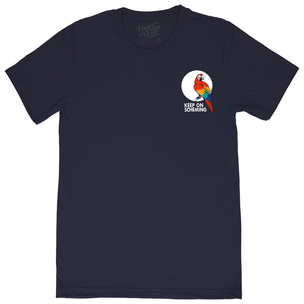 "Keep On Scheming ""Parrot"" Tee T-Shirt"