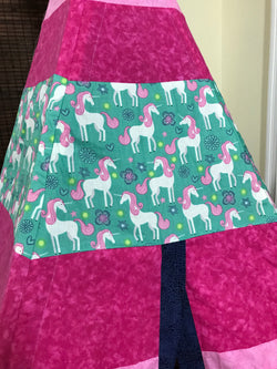 Classic Unicorn Pink and Teal Teepee