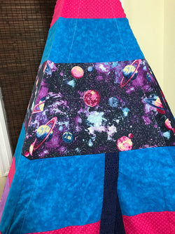 Classic Outer Space Planets Purple and Turquoise Teepee