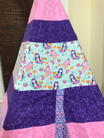 Classic Mermaid Teepee in Pink and Purple