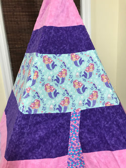 Classic Mermaids Teepee in Purples and Pink