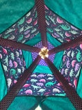 Classic Dinosaur Teepee in Purple, Teal, and Pink