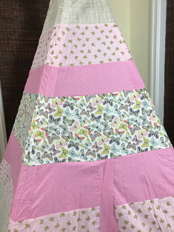 Classic Butterflies Teepee in Pink and Gold