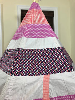 Deluxe Geometric Pink Peach and White Teepee