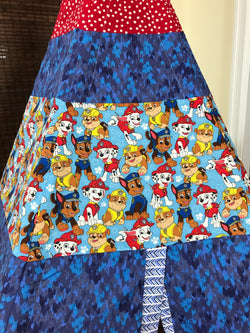 Classic Teepee with Paw Patrol Pups Marshall Chase Rubble Fabric and Red Yellow Blue