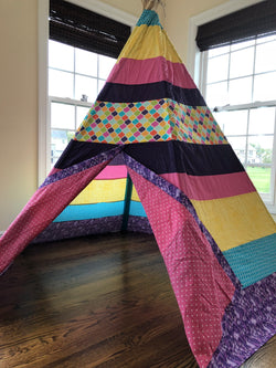 Deluxe Pink Purple Rainbow Bright Moroccan Teepee